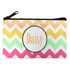 Multi Color Chevron Personalized Cosmetic Bag