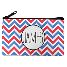 Patriotic Chevron Personalized Cosmetic Bag