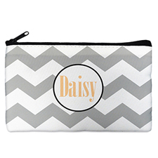 Chevron Personalized Cosmetic Bag (Many Color)