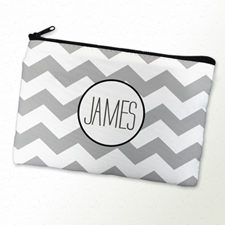 Chevron Personalized Cosmetic Bag