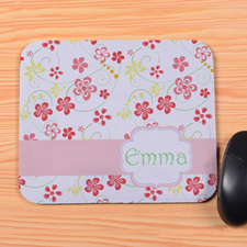 Spring Floral Personalized Premium Mousepad