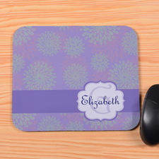 Fancy Floral Personalized Premium Mousepad