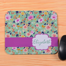 Watercolor Floral Personalized Premium Mousepad