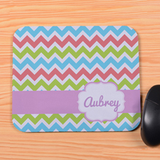 Rainbow Chevron Personalized Premium Mousepad