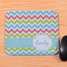 Colorful Chevron Personalized Premium Mousepad