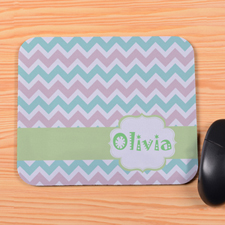 Pastel Chevron Personalized Premium Mousepad
