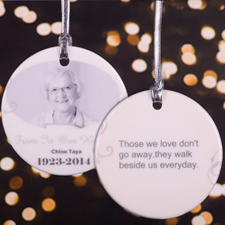 Forever In Our Hearts Personalized Photo Memorial Ornament
