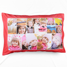 Red Personalized Collage Pillowcase
