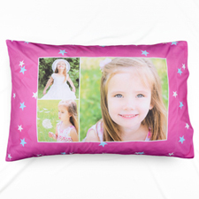 Little Star Collage Personalized Photo Pillowcase