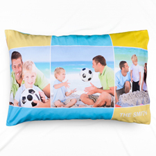 Colorful Three Collage Personalized Photo Pillowcase