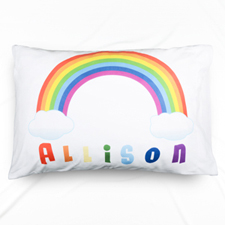 Rainbow Personalized Name Pillowcase