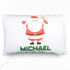 Santa Claus Personalized Name Pillowcase