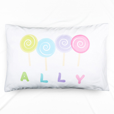 Lollipop Personalized Name Pillowcase For Kids