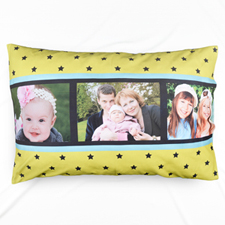 Lime Star Collage Personalized Pillowcase