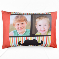 Stripe And Mash Collage Personalized Photo Pillowcase