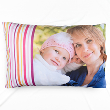 Plum Stripe Personalized Photo Pillowcase
