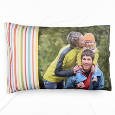Mint Stripe Personalized Photo Pillowcase