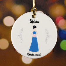 Bridesmaid Personalized Ceramic Ornament