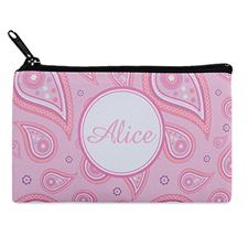Pink Vintage Personalized Cosmetic Bag 4X7