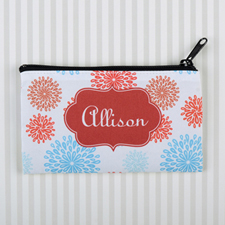 Sea Floral Personalized Cosmetic Bag 6X9
