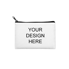 Custom Imprint 3.5X6 Cosmetic Bag Black Zipper (Same Image)
