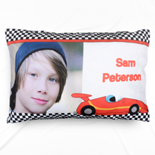 Red Racecar Personalized Photo Pillowcase