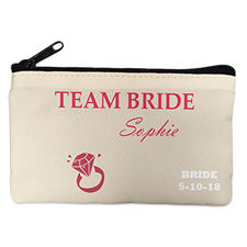 Wedding Ring Personalized Cosmetic Bag