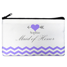 Plum Love Arrow Personalized Cosmetic Bag