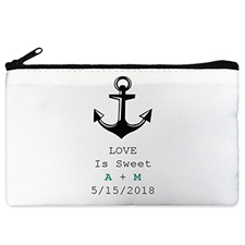 Anchor Personalized Cosmetic Bag Medium