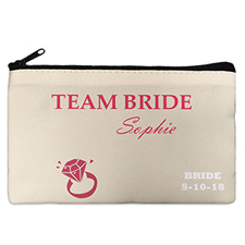 Wedding Ring Personalized Cosmetic Bag Medium
