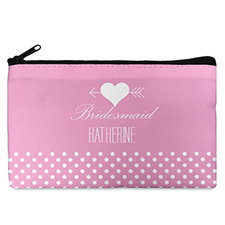 Arrow Heart Personalized Cosmetic Bag Medium