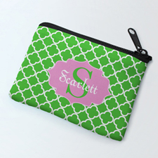 Green Clover Personalized Coin Purse
