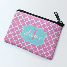 Pink Clover Personalized Coin Purse