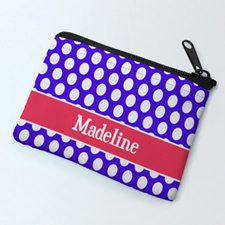 Plum Polka Dot Personalized Coin Purse