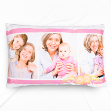 Floral Photo Collage Personalized Pillowcase