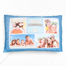 Hello Summer Photo Collage Personalized Pillowcase