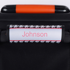 Black Hounds Tooth Personalized Luggage Handle Wrap