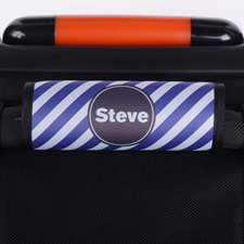 Purple Stripe Personalized Luggage Handle Wrap