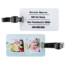 Stripe Two Collage Personalized Luggage Tag