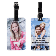 Bubbles Personalized Photo Luggage Tag