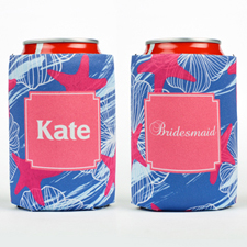 Watercolor Starfish Personalized Can Cooler