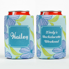 Watercolor Floral Personalized Can Cooler