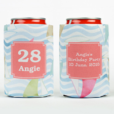 Watercolor Sail Personalized Can Cooler
