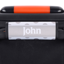 Black Grey Polka Dot Personalized Luggage Handle Wrap