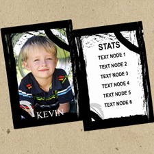 Black Border Personalized Photo Trading Cards  Set Of 12