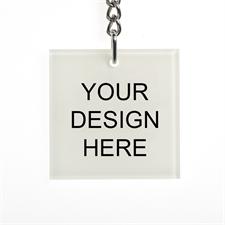 Custom Imprint Acrylic Keychain Square 1.875