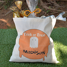 Ghost Personalized Halloween Trick Or Treat Bag