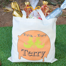 Witch Feet Personalized Trick or Treat Bag