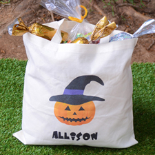 Witch Pumpkin Personalized Trick Or Treat Bag