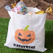 Pumpkin Personalized Trick or Treat Bag